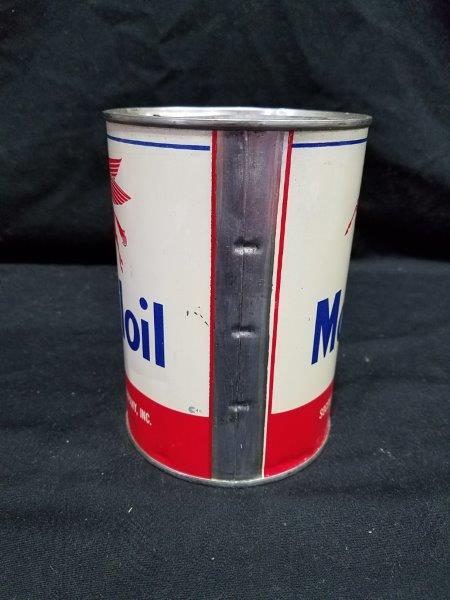 Mobiloil Socony-Vacuum Quart Metal Motor Oil Can