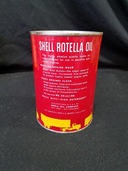 Shell Rotella Oil Empty Quart Motor Oil Can