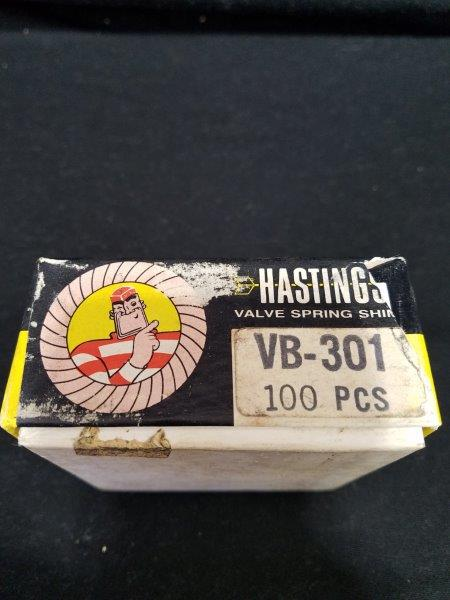 Hastings Piston Rings VB-301 Valve Spring Shims in Graphic Display Box