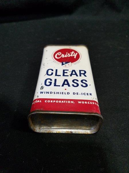 Cristy Clear Glass Lead Top Oiler Can
