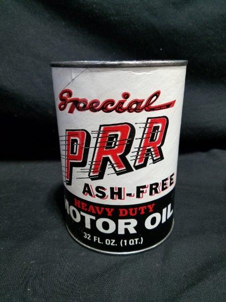Special PRR Ash-Free Quart Empty Composite Motor Oil Can