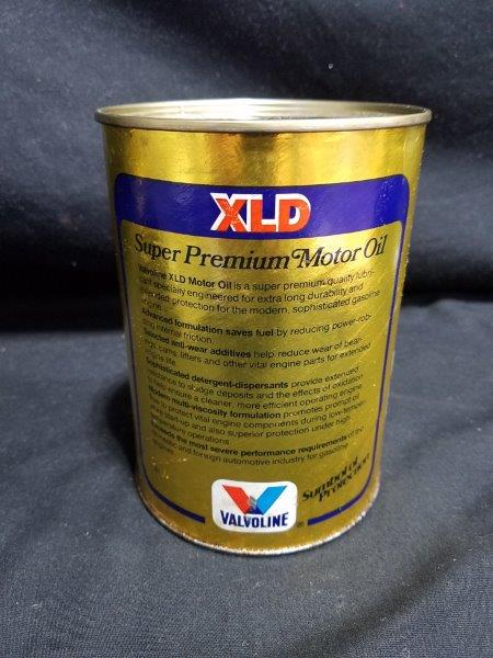 Halvoline XLD Quart Empty Composite Motor Oil Can