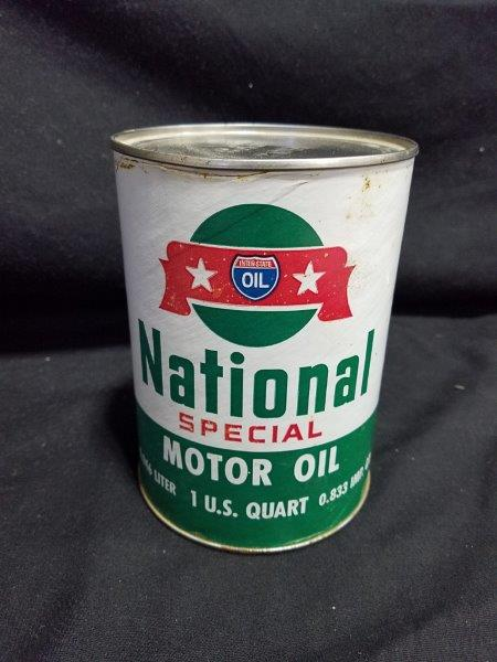 Interstate Oil National Special Quart Full Composite Motor Oil Can