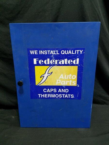 "Federated Auto Parts Caps and Thermostats Parts Cabinet 22"" x 15.5"""
