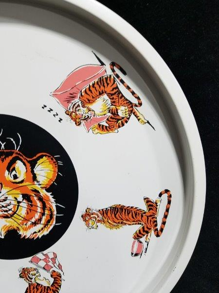 "Esso Tiger 13"" Metal Drink Advertising Tray"