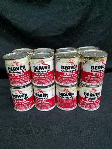 Beaver 8 oz 2 Cycle NOS Chainsaw Motor Oil Can