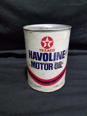 Texaco Havoline Quart Motor Oil Can