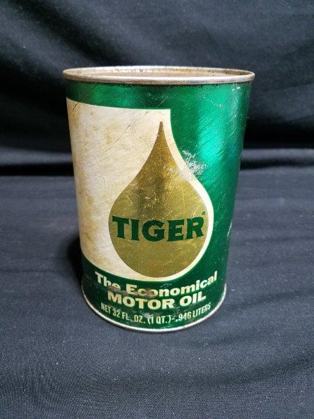 "Lion Oil Tiger Quart ""The Economical"" Motor Oil Can"
