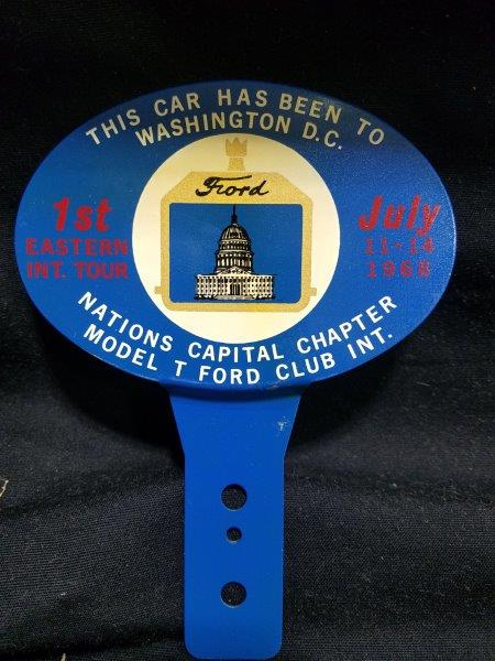 Ford Model T License Plate Topper