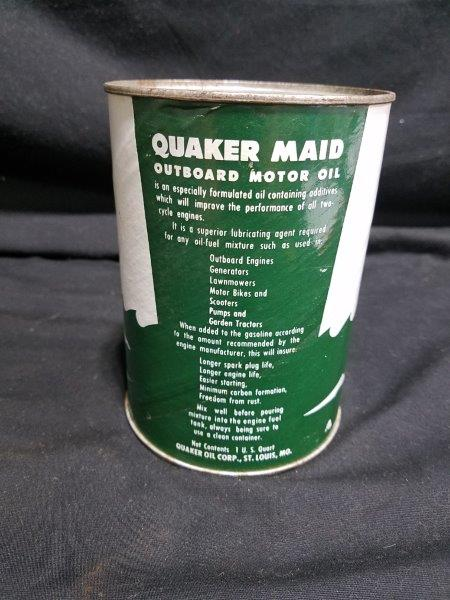 Quaker Maid Outboard Motor Oil Can