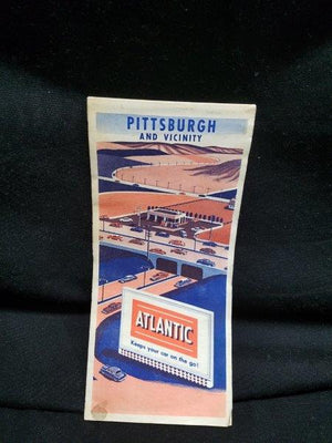 Atlantic Motor Oil Pittsburgh Road Map