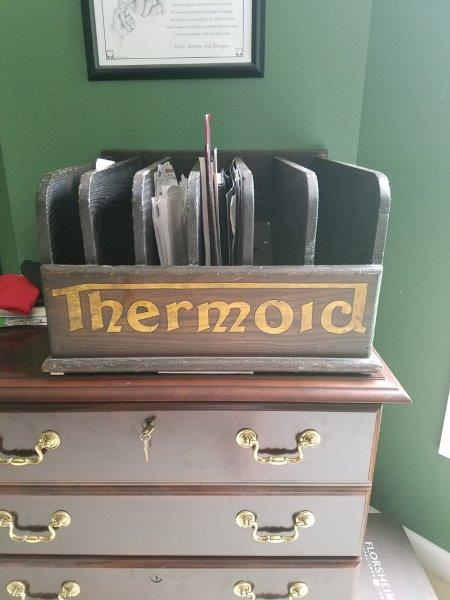 Thermoid Hose and Belt Wooden Display Rack
