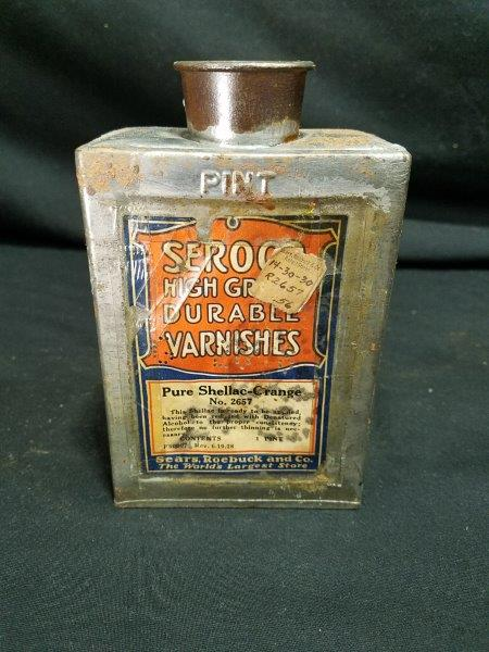 Sears Roebuck Varnish Can