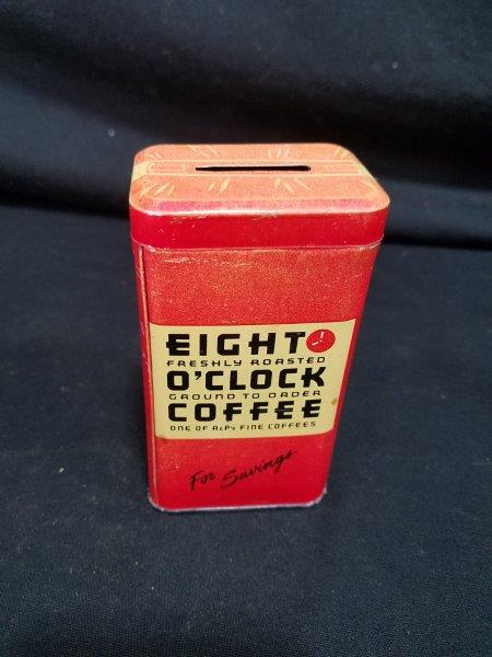 Eight O'Clock Coffee Can Bank