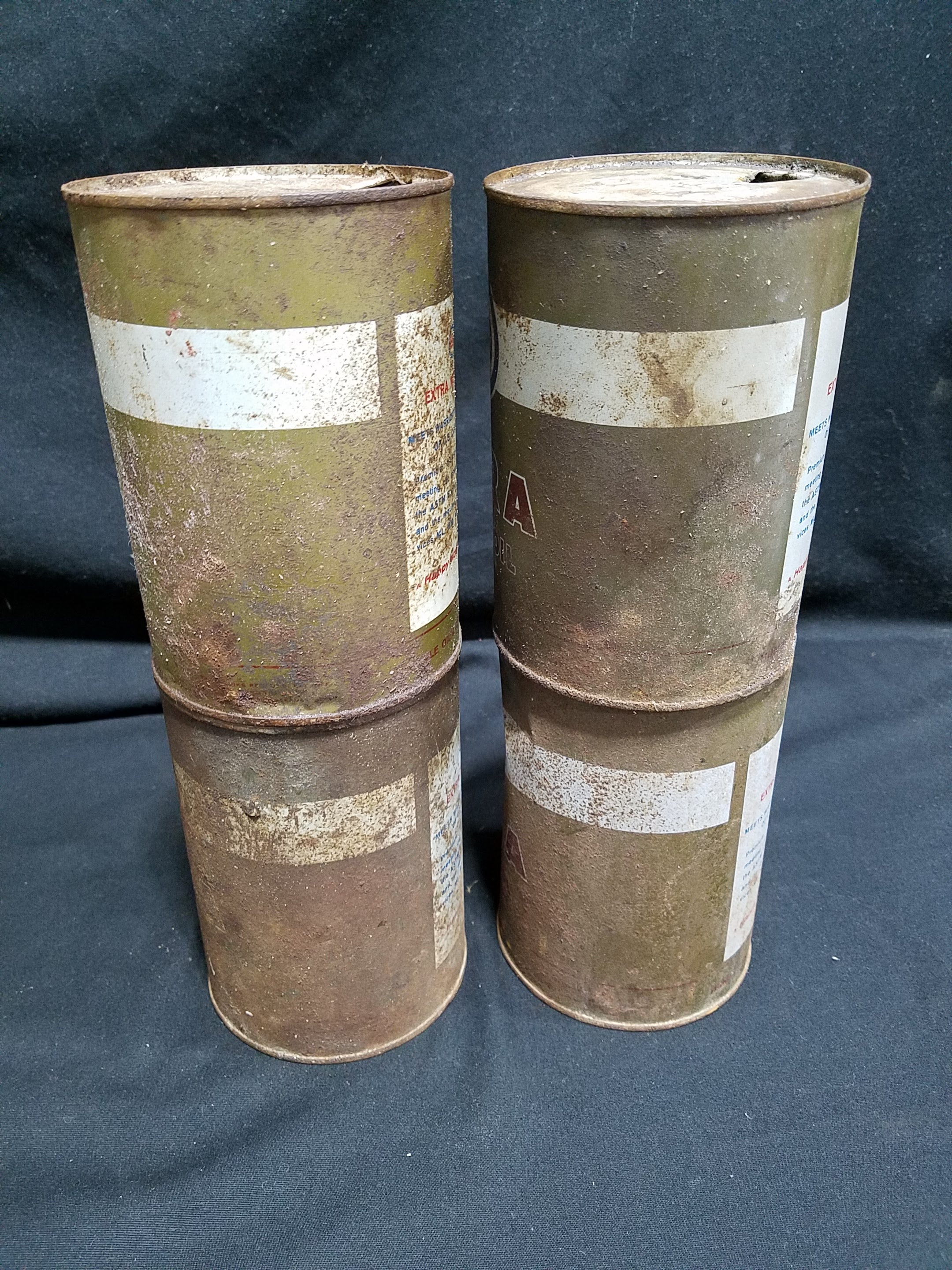 Esso Quart Extra Motor Oil Cans (Lot of 4)