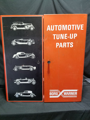 "Borg Warner Automotive Tune-Up Parts Cabinet w/ Graphics 31"" x 28"" x 12"""