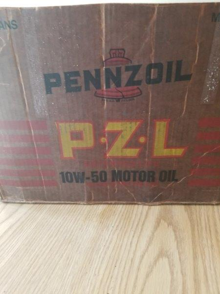 Pennzoil PZL Z-7 Quart NOS Motor Oil Can