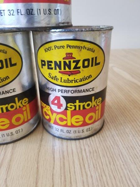 Pennzoil 4 Stroke Motorcycle Motor Oil Can