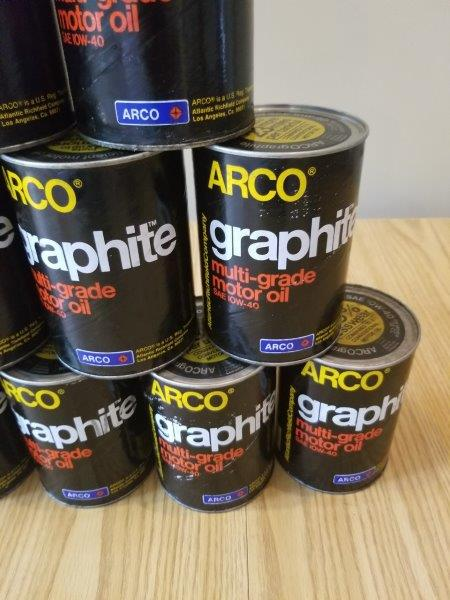 ARCO Atlantic Richfield Graphite Motor Oil Can