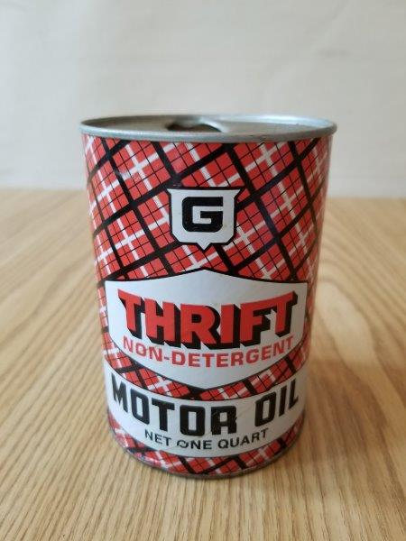 Thrifty Quart Motor Oil Can