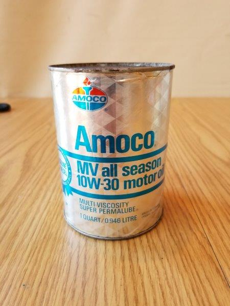 Amoco American Oil Quart Multi-Viscosity Super Permalube Motor Oil Can