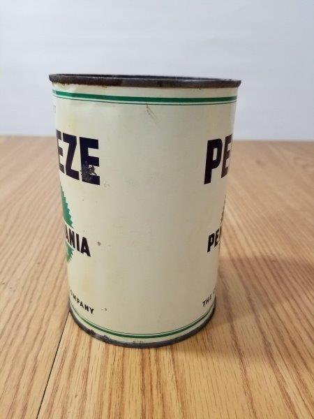 Penneze California Company Motor Oil Can