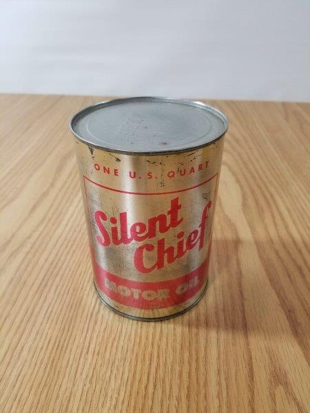 Silent Chief Motor Oil Can