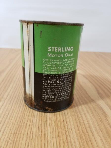 Sterling Quart Motor Oil Can