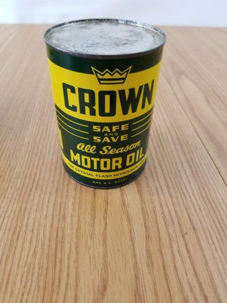 Crown Crystal Flash Petroleum All Season Motor Oil Can