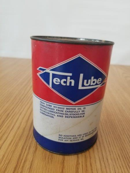 Tech Lube Hy-Valu Quart Motor Oil Can