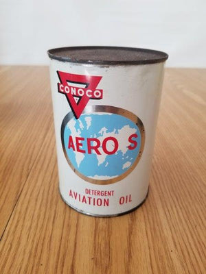 Conoco Aero S Aviation Quart Motor Oil Can