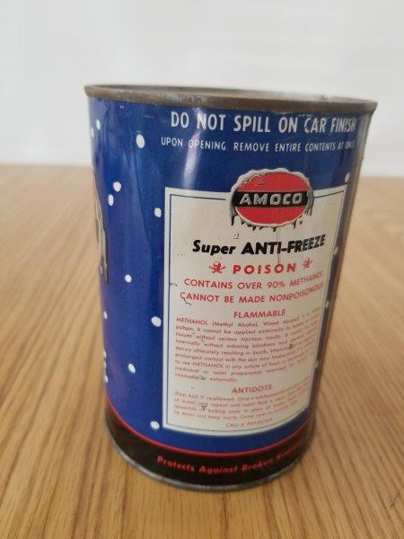 American Oil Amoco Quart Super Anti-freeze Can
