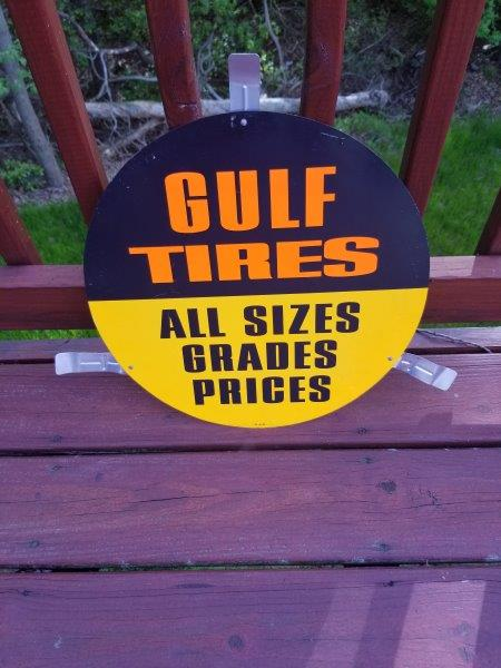 Gulf Oil Tires All Sizes Tire Insert Sign