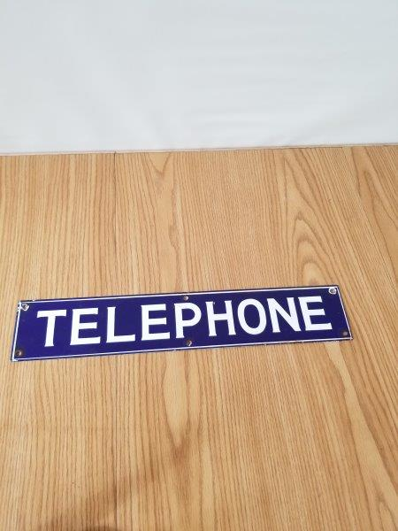 Telephone Porcelain Sign