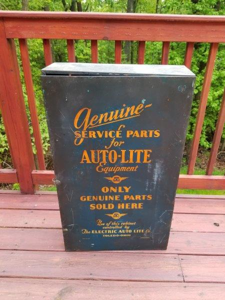 1934 Auto-lite Genuine Serve Parts Cabinet