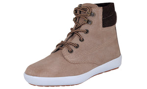 Mario Pellino Womens Casual Mid Swede Leather Boot Comfortable Mid Lace Fashion Sneaker Padded Back
