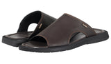 Mario Pellino Handmade Genuine Dress Brown Leather Sandals for Men Open Toe Slip On