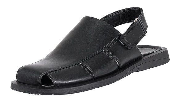 Genuine Dress Leather Sandals for Men Closed Toe with adjustable Strap on  heel Fishermen style