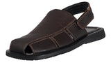 Handmade Genuine Dress Leather Sandals for Men Closed Toe adjustable Strap on heel Fishermen style