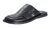 Mario Pellino Mens Milano Sandals Handmade Genuine Black Leather Sandals For Mens