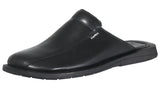 Mario Pellino Handmade Genuine Dress Black Leather Sandals for Men Closed Toe Slip On