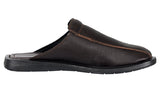 Mario Pellino Handmade Genuine Dress Brown Sandals for Men Closed Toe Slip On