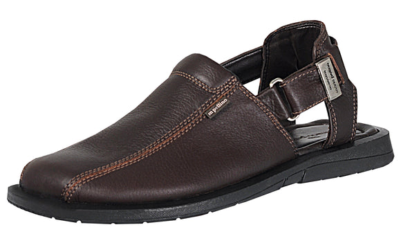 Mario Pellino Mens Palermo Sandals Handmade Genuine Brown Leather Sandals For Mens