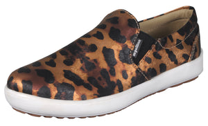 Mario Pellino Womens Comfortable Slip On Fashion Sneakers Leopard Print Loafers Comfort Flats Shoes
