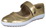 Mario Pellino Womens Comfortable Mary Jane Fashion Sneakers Gold Loafers Comfort Flats Shoes