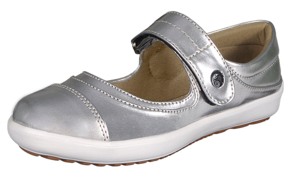 Womens Comfortable Mary Jane Fashion Sneakers Silver Loafers