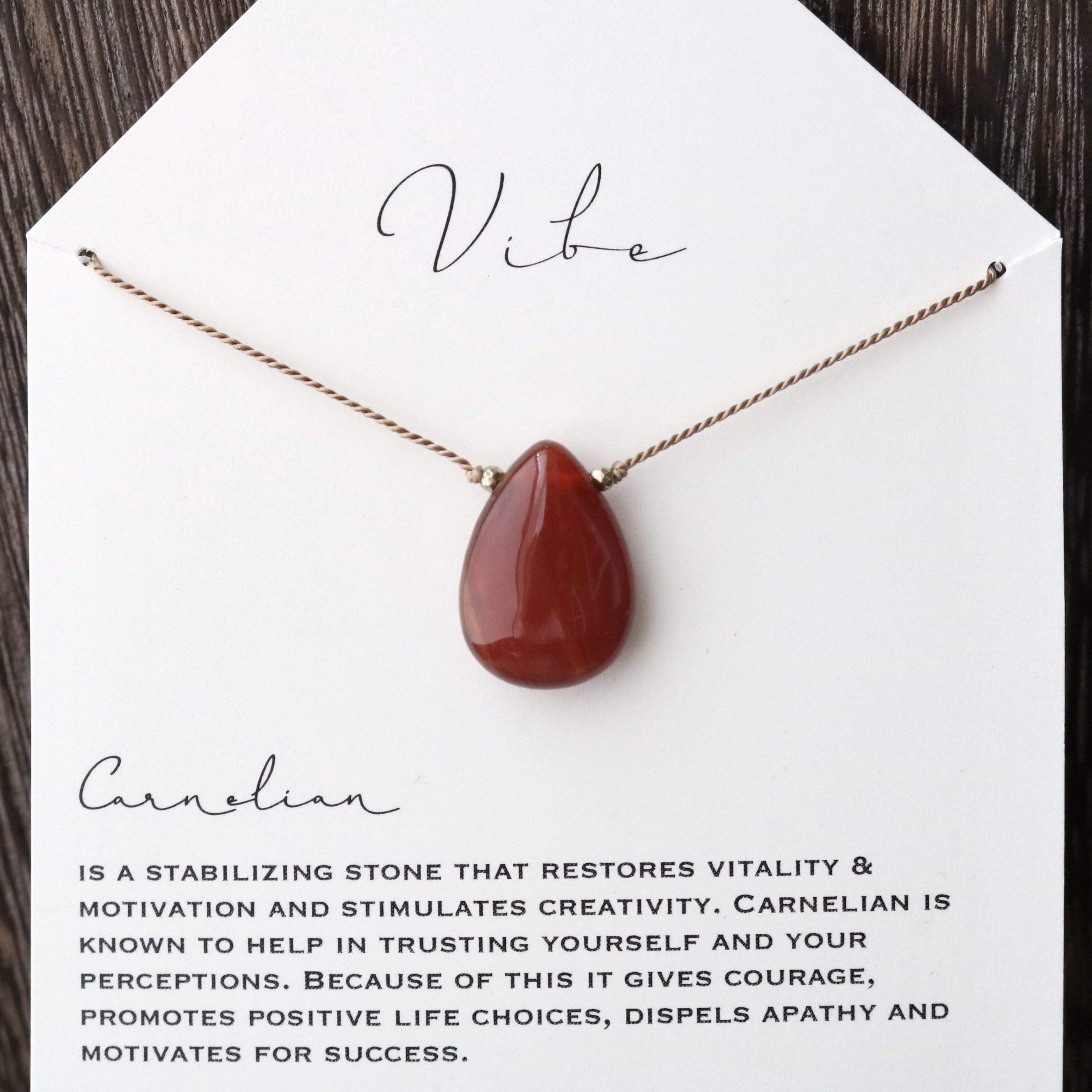 CARNELIAN (Smaller) | One-of-a-kind Vibe Necklace No.6