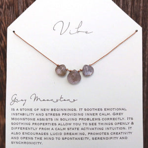 GREY MOONSTONE Vibe Necklace