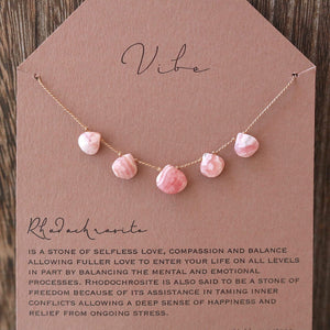RHODOCHROSITE Vibe Necklace