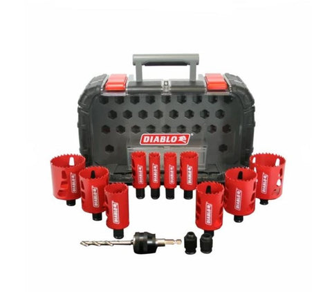 Diablo 14Pc General Purpose Bi-Metal Hole Saw Set